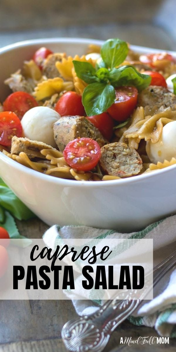 Caprese Pasta Salad captures all the flavors you love in a Caprese Salad in pasta salad form! This pasta salad shines with fresh tomatoes, basil, and mozzarella, and a Homemade Balsamic vinaigrette.This dish is bursting with flavor and freshness and is hearty enough to be served as a main course, but also makes a wonderful addition to a barbecue or potluck.