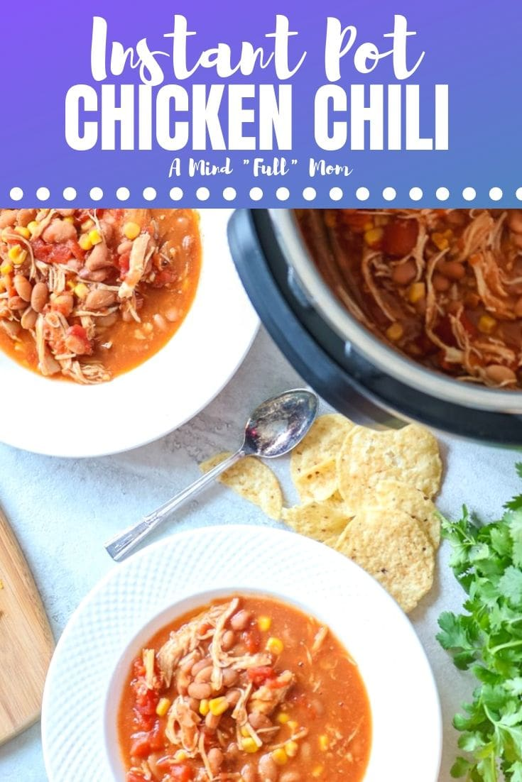 Prepare to have your mind blown! This easy recipe for Instant Pot Chicken Chili can be made using canned beans, dried beans, or fresh or frozen chicken. This chicken chili is gluten free, healthy and hearty! #instantpot #chickenchili #glutenfree