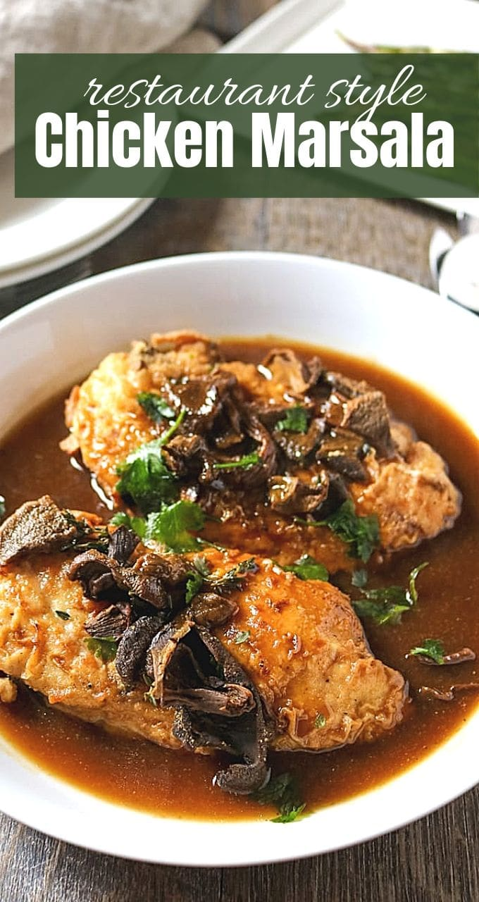 You may NEVER order Chicken Marsala again. This Homemade Chicken Marsala is SO incredibly good but yet so easy to make at home! Perfect for date night or entertaining.