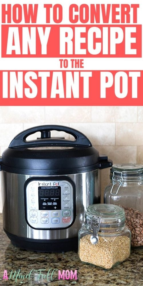 If you are trying to figure out how to convert your favorite recipes into Instant Pot success, I have the formulas to follow! This guide will show you how to adapt MOST recipes for Instant Pot cooking. Included a FREE Downloadable Instant Pot Conversions Chart to keep on hand! Now you are well on your way to making your favorite classic recipes in the Instant Pot.