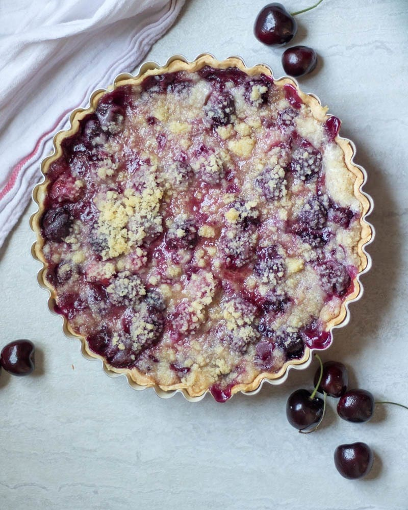 Easy Cherry Pie Crumble Recipe + Video - Kristine's Kitchen |Cherry Pie With Crumb Topping