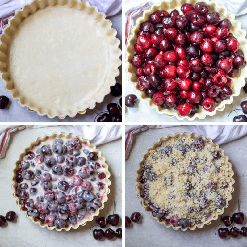 Step by step pictures of how to make cherry pie