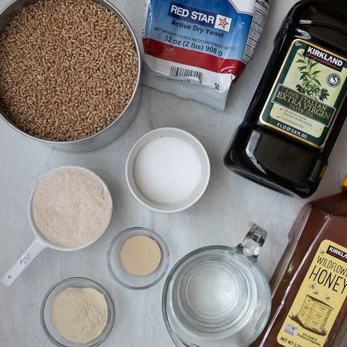 Ingredients for Whole Wheat Bread