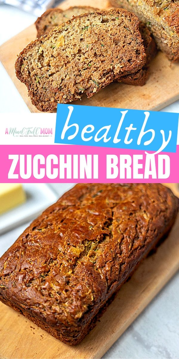 The BEST Healthy Zucchini Bread Recipe. This easy zucchini bread is made with whole grain flour, naturally sweetened and lightened up with applesauce. But what really makes this bread stand out is the addition of crushed pineapple. YUM!