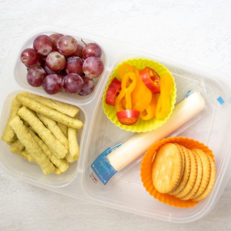 Kid's Lunch with cheese and crackers