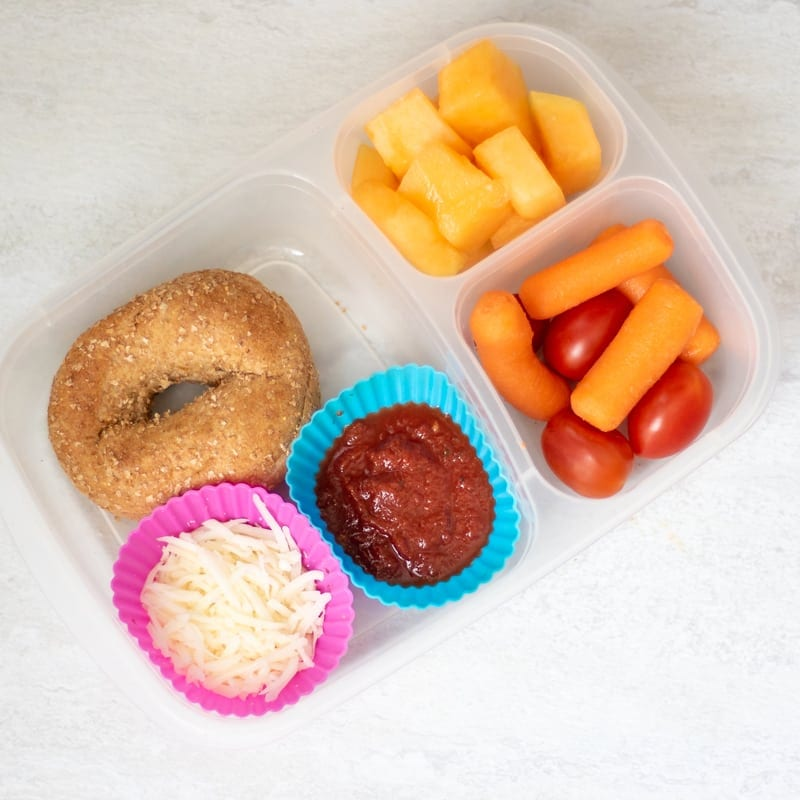 Homemade Pizza Lunchable in Lunch Container