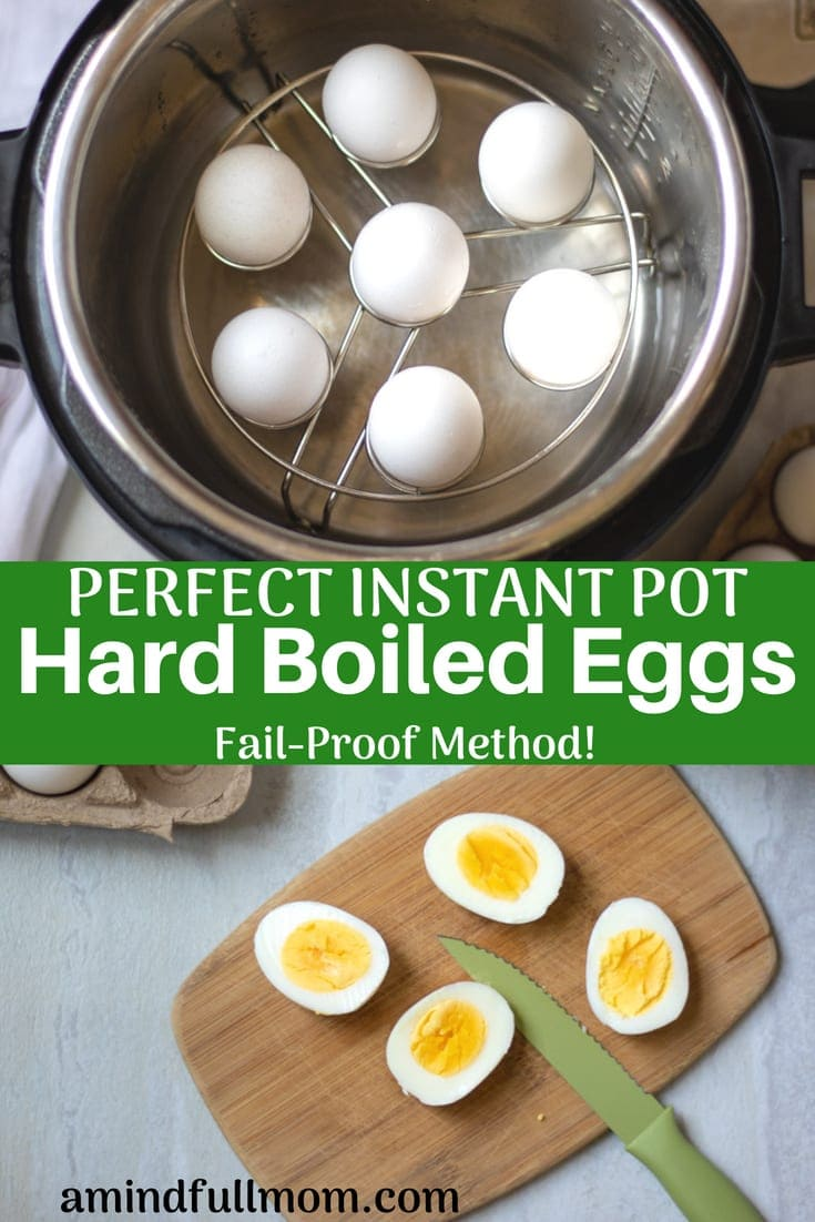 Instant Pot Hard Boiled Eggs: This is the BEST way to make PERFECT hard boiled eggs. Eggs are cooked to perfection EVERY SINGLE TIME!