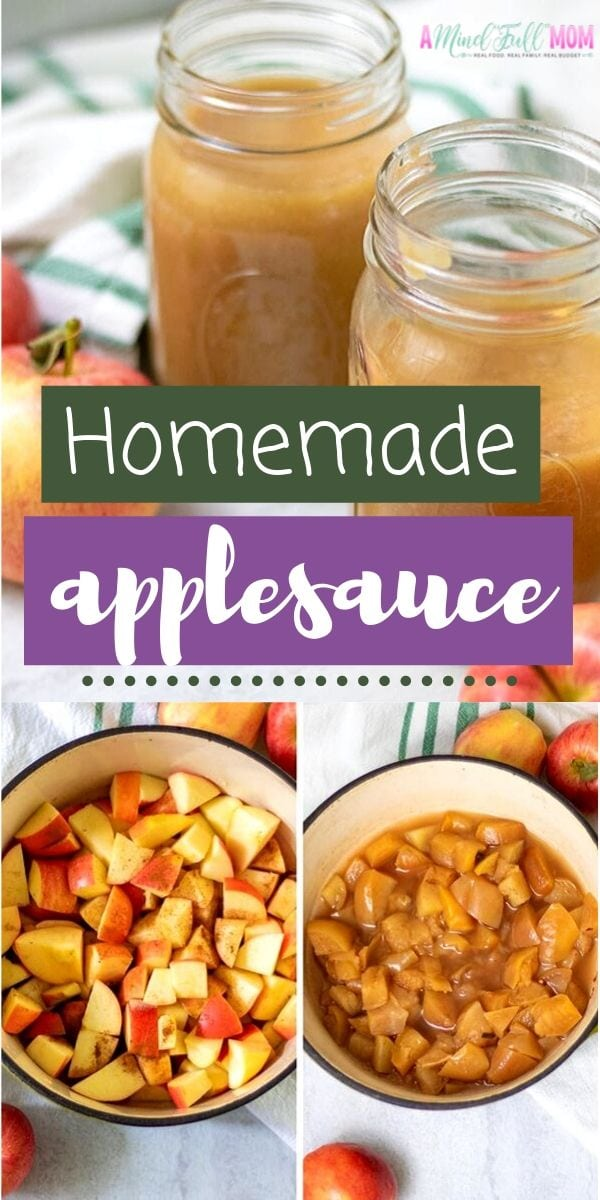 Homemade Applesauce is the ABSOLUTE BEST! This easy recipe for stove top applesauce is simple, versatile and will make your house smell incredible! No added sugar here!