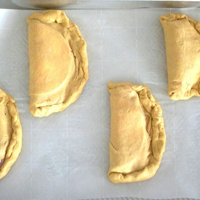 Hot Pockets on Baking Sheet