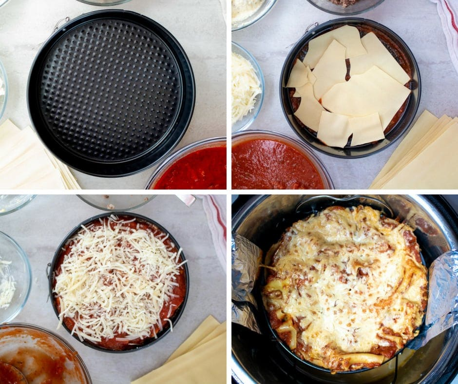 Step by step directions for Instant Pot Lasagna