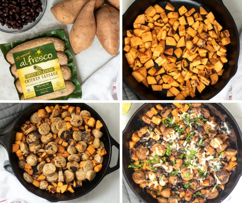 Step by step pictures on how to make Mexican Chicken Hash