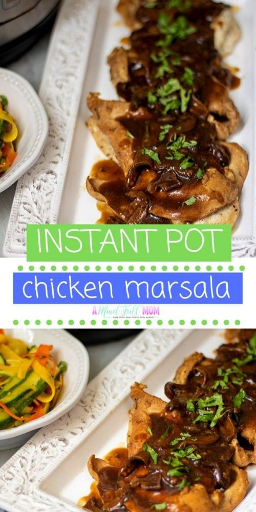 Instant Pot Chicken Marsala: In less than 30 minutes you can have homemade Chicken Marsala that is worthy of restaurants. With a few tricks, the Instant Pot creates the most flavorful marsala sauce you have ever had. This easy instant pot chicken recipe also happens to be dairy free and gluten free.