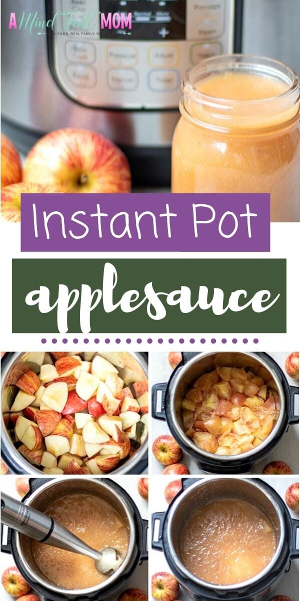 This is the BEST recipe for Homemade Applesauce! Instant Pot Applesauce is made in less than 30 minutes, is naturally sweetened, AND does not require peeling! This is the easiest, best applesauce PERIOD!