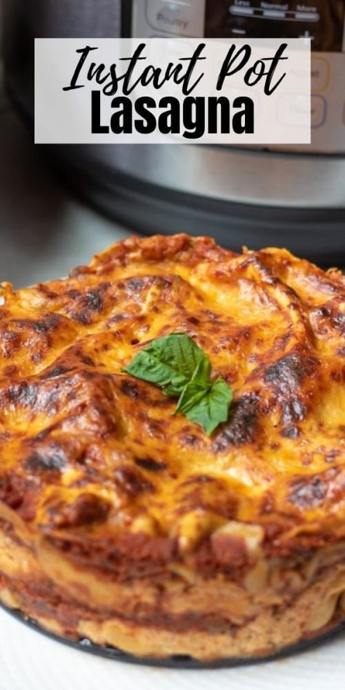 Made with layers of hearty meat sauce, creamy ricotta filling, gooey cheese, and tender pasta, this Instant Pot Lasagna recipe comes together much faster and without the need of heating up the oven!