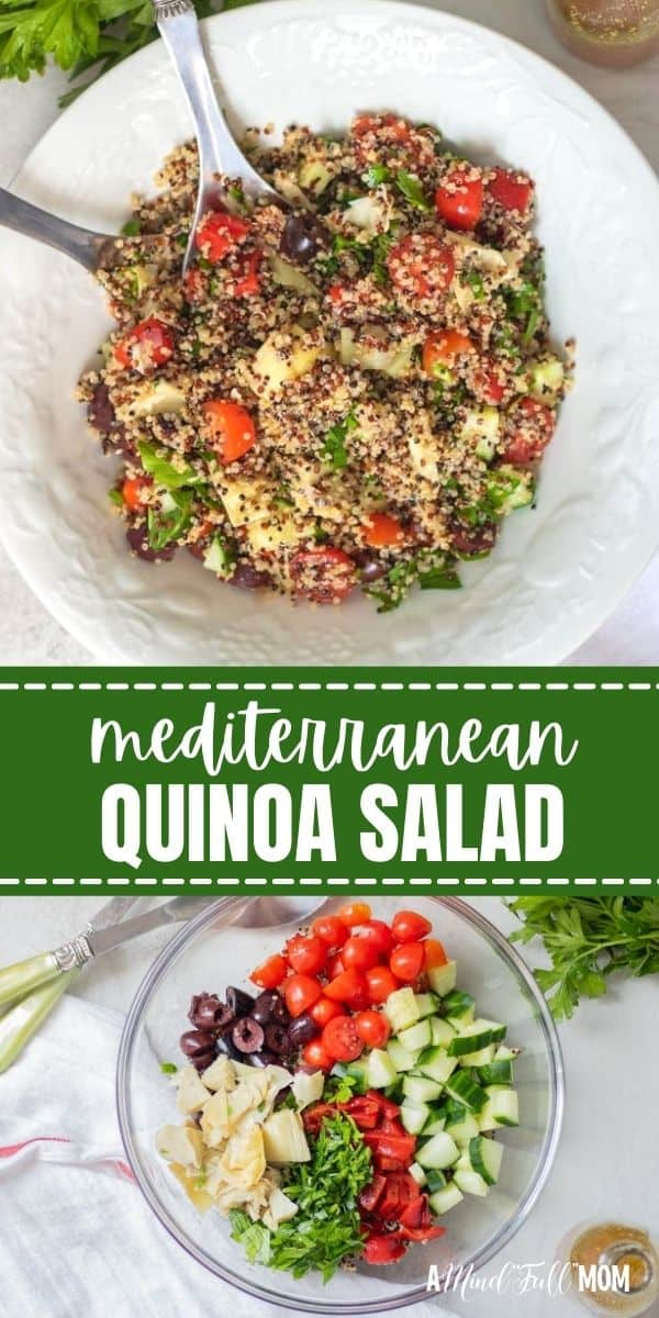 Greek Quinoa Salad is a simple light quinoa salad packed with protein, fresh vegetables, olives, and a delicious Greek Dressing.This nutritious salad is full of fiber, protein, and whole grains.