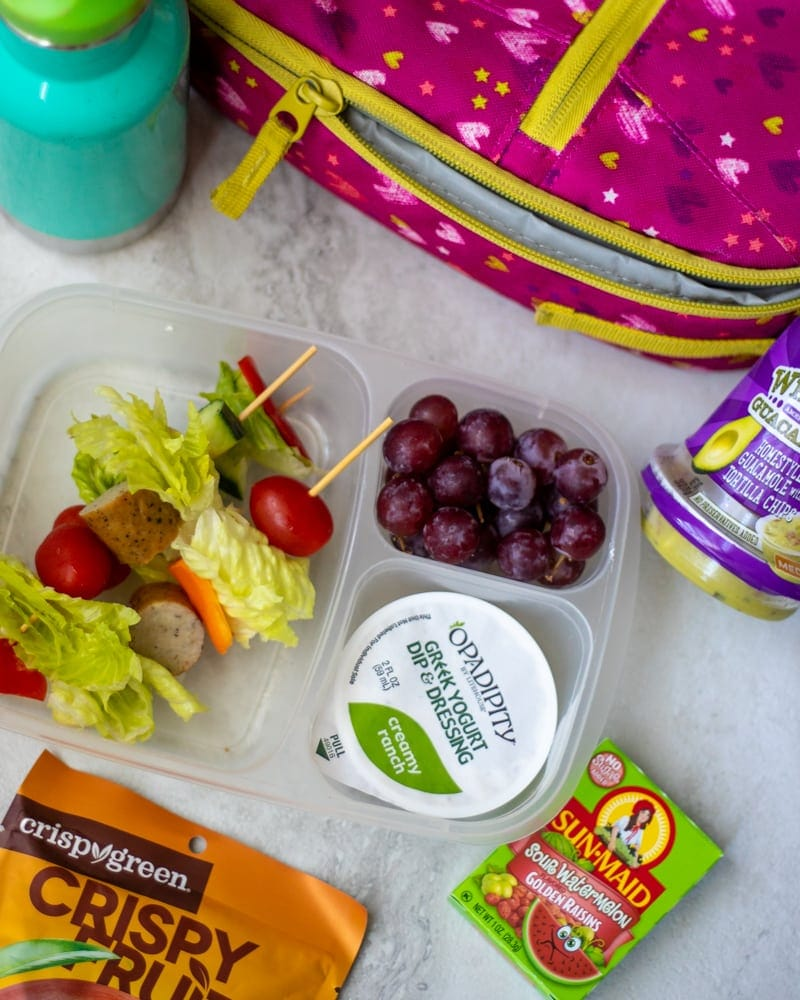 Kid Friendly Salad packed in lunchbox