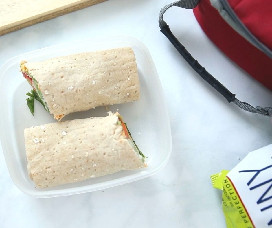 Ranch Vegetable Wrap in lunchbox container