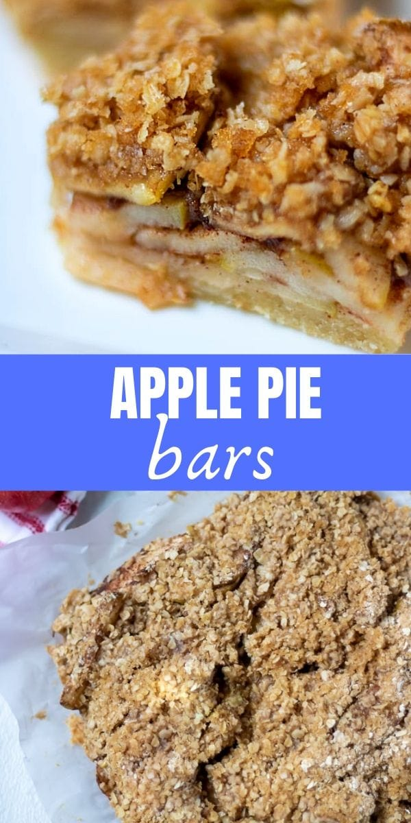 Apple pie meats apple crisp in these easy, delicious apple bars. Made with a shortbread crust, sweet apple filling and a buttery crumble this apple dessert has it all.