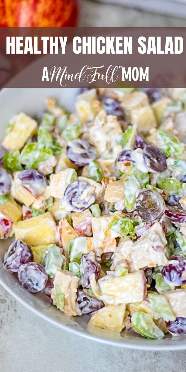 Homemade Chicken Salad with Apples, grapes, celery, and walnuts.