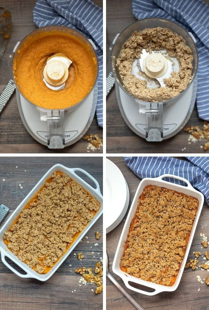 Step by step pictures for how to make sweet potato casserole