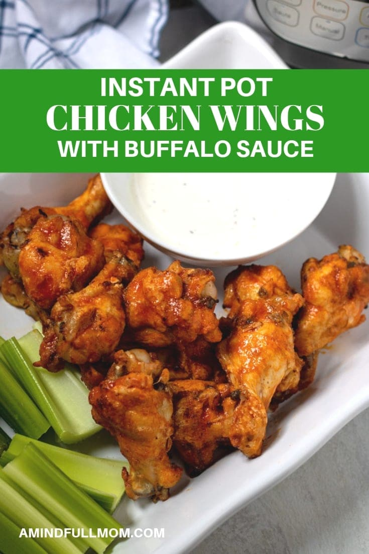 The BEST Instant Pot Chicken Wings with Buffalo Sauce.