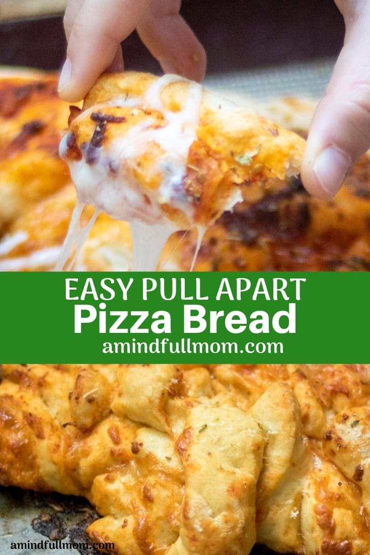 Homemade Pull Apart Pizza Bread is like a Pizza Version of Monkey Bread. Made with bread dough and pizza toppings, pizza bread is a loved family meal!