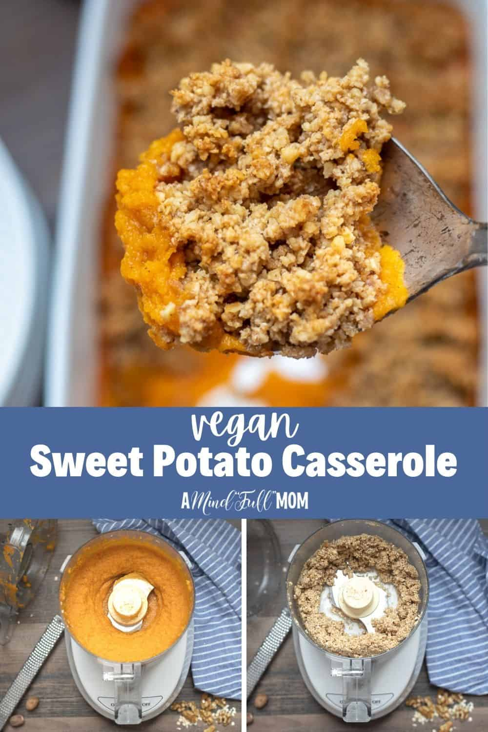This is the BEST Sweet Potato Casserole EVER! It just happens to be gluten free, dairy-free, egg free, and vegan! Everyone will love this Healthy Sweet Potato Casserole. It makes the perfect side dish for Thanksgiving, Christmas or a family dinner.