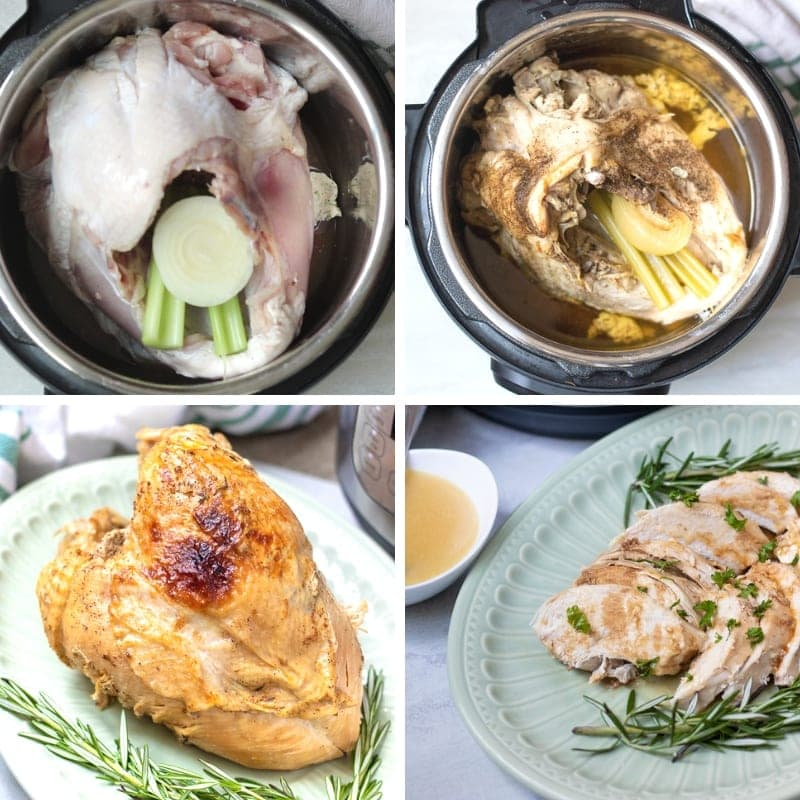 Step by step pictures on how to make turkey breast in instant pot