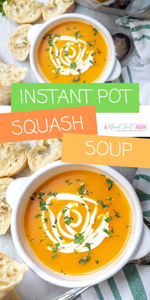 Instant Pot Butternut Squash Soup recipe is a super quick and easy Instant Pot Recipe. This Healthy Butternut squash soup is made in the pressure cooker and is gluten-free, vegan friendly, and tastes like Panera Bread Butternut Squash Soup.