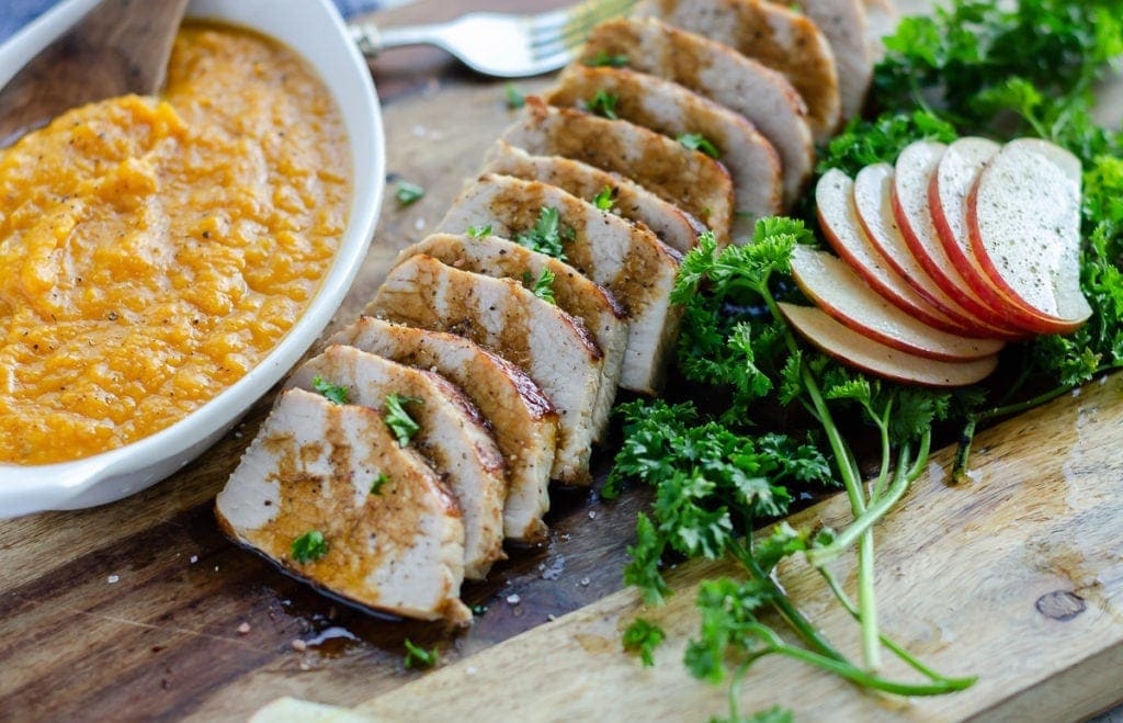 Instant Pot Pork Tenderloin with Apples and Sweet Potatoes