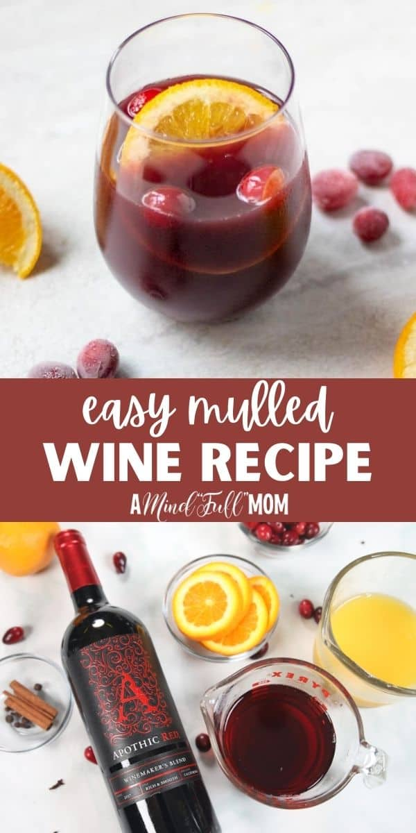 Red wine is simmered low and slow with aromatic spices and a combination of orange and cranberry juices for a delicious mulled wine. This is the perfect cocktail to warm you up when the weather gets cooler.You can make in the slow cooker, on the stove and is perfect for entertaining.
