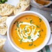 Bowl of Instant Pot Squash Soup
