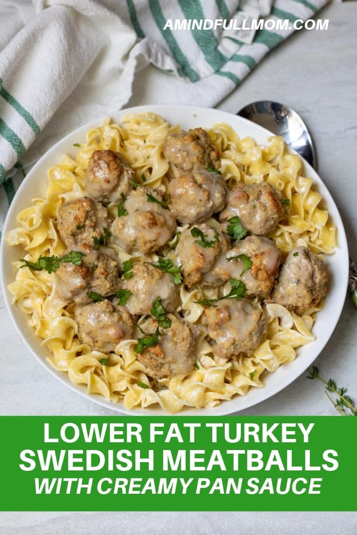 Move over IKEA! There is a new Swedish Meatball in town. These easy to make, lean turkey meatballs are lighter than traditional Swedish Meatballs, but are still packed with flavor and served in a delicious creamy sauce.#meatballs #turkey #maincourse