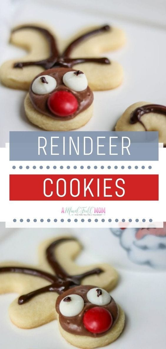 Cookie Exchange Alert! With 3 easy steps and a delicious chocolate frosting, you can transform those ordinary sugar cookies into a Reindeer Cookies. Festive Christmas Cut Out Sugar Cookie that brings out holiday magic. Save this Christmas recipe for another home tradition!