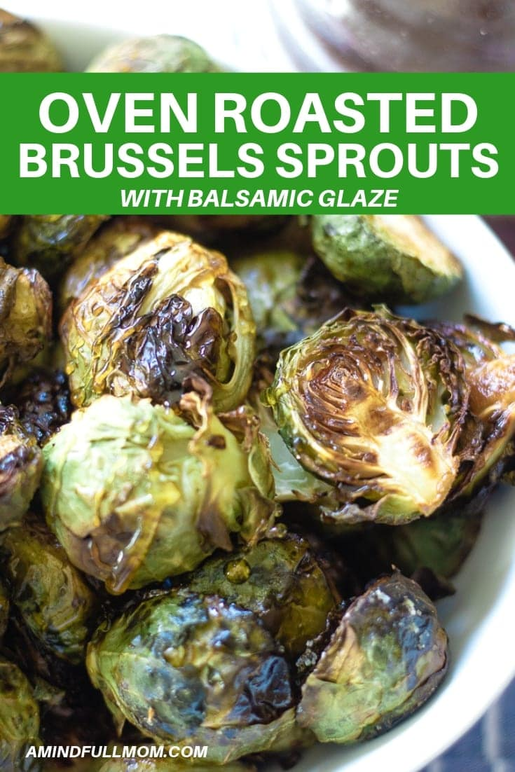 This is the best roasted brussels sprouts recipe out there. Crispy oven roasted brussels sprouts are tossed with a simple balsamic honey sauce that has been given a kick with a surprising ingredient. These Balsamic Brussels Sprouts are the easiest and tastiest way to prepare brussels sprouts.