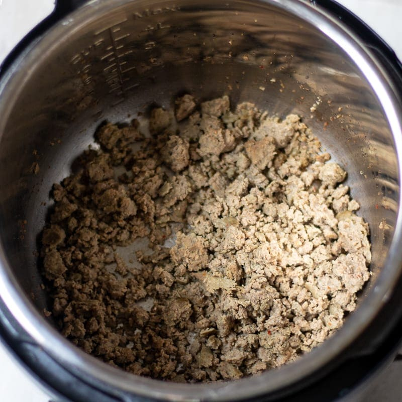 Ground Sausage in Pressure Cooker