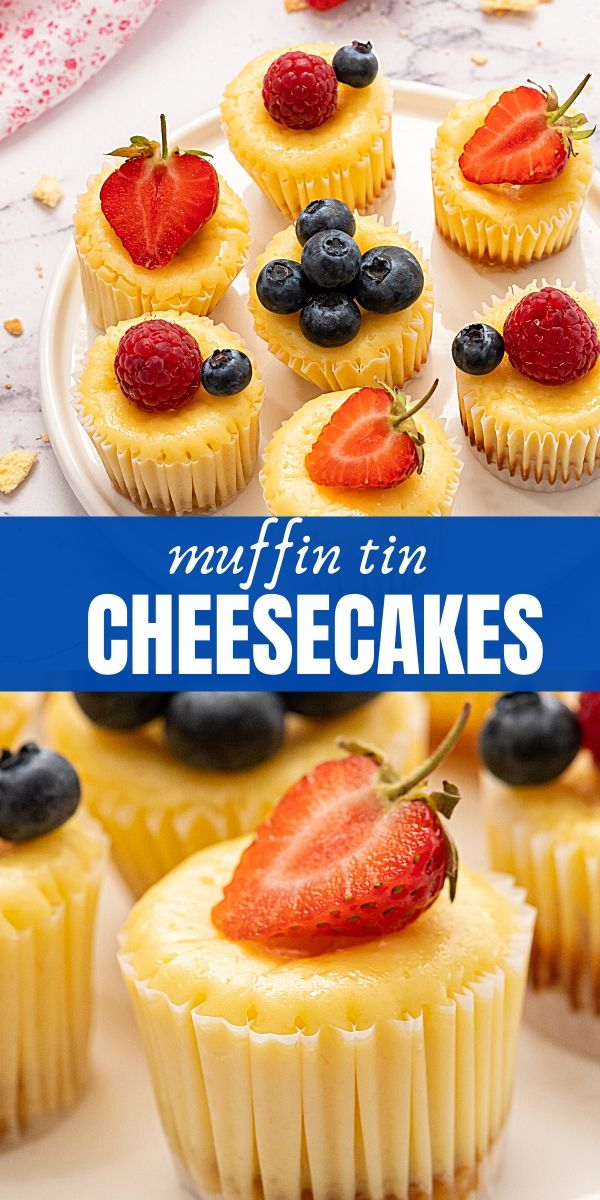These bite-sized cheesecakes are easy to make and feature a vanilla wafer crust and a perfectly creamy and light cheesecake batter.