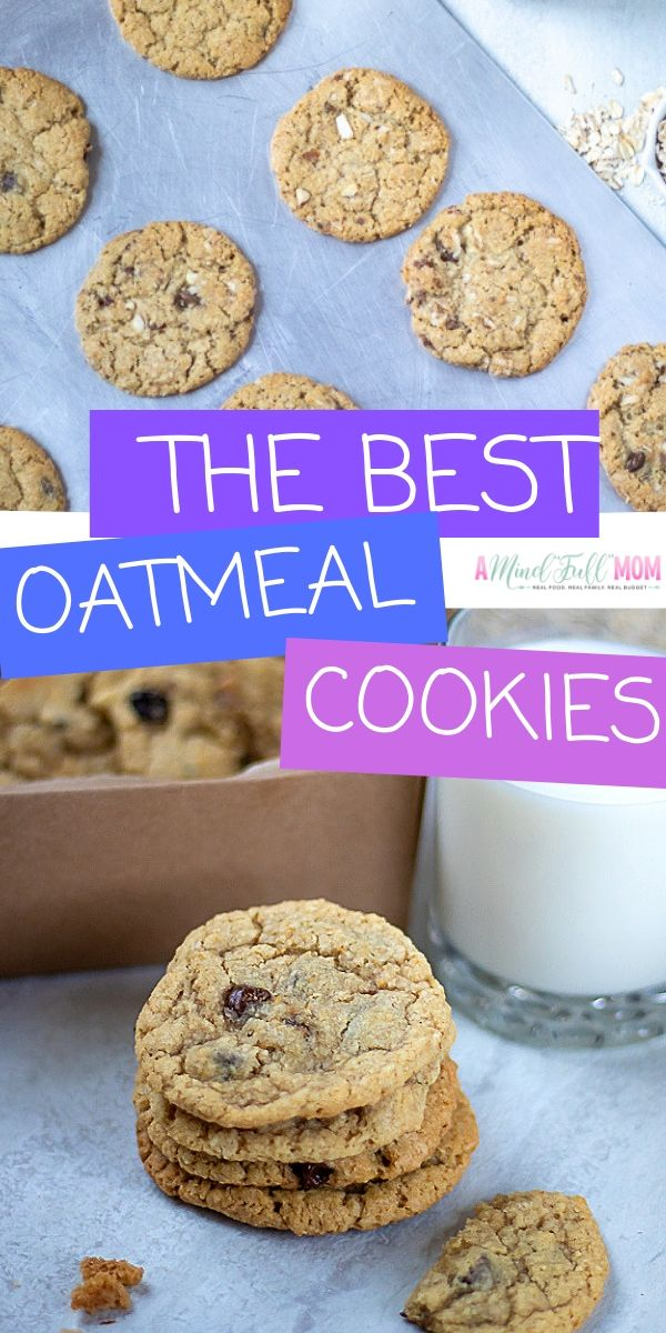 This is the BEST recipe for Oatmeal Cookies ever! Soft, buttery, and full of oats, these cookies are the best treat for any time the craving for a dessert strikes. Add in chocolate chips, raisins, or orange zest to make these oatmeal cookies the way you like them!