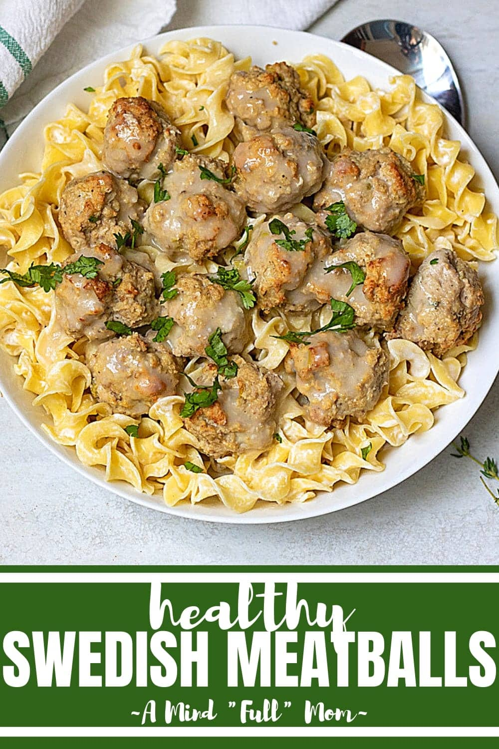 Move over IKEA! There is a new Swedish Meatball in town. These easy to make, lean turkey meatballs are lighter than traditional Swedish Meatballs but are still packed with flavor and served in a delicious creamy sauce.