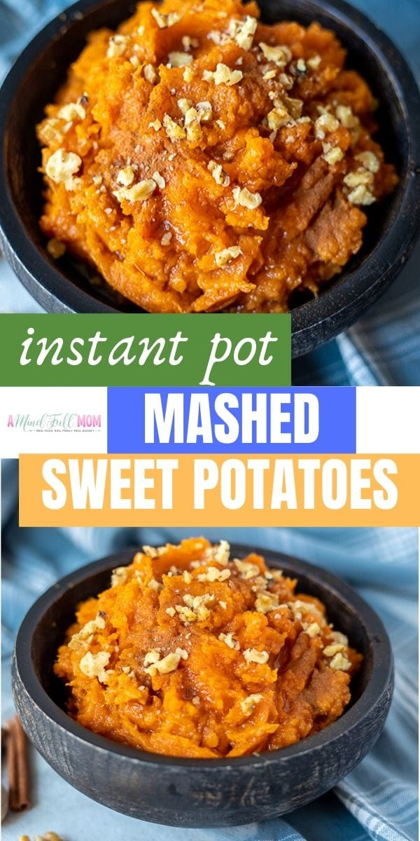Move over mashed potatoes! These Instant Pot Mashed Potatoes are good enough to steal the show! This simple sweet potato mash is made in less than 30 minutes in the pressure cooker. The options for flavoring are endless--from sweet, to savory, to basic--this easy side dish is a must make!