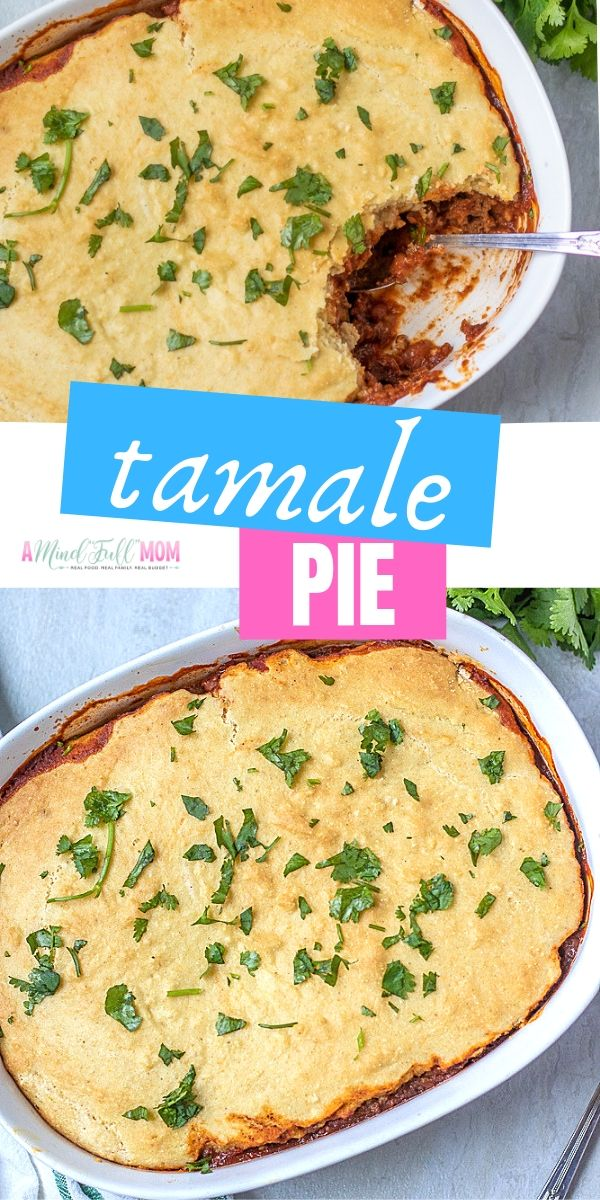 Hearty, comforting and delicious, this Tamale Pie is a a Tex Mex spin on pot pie.