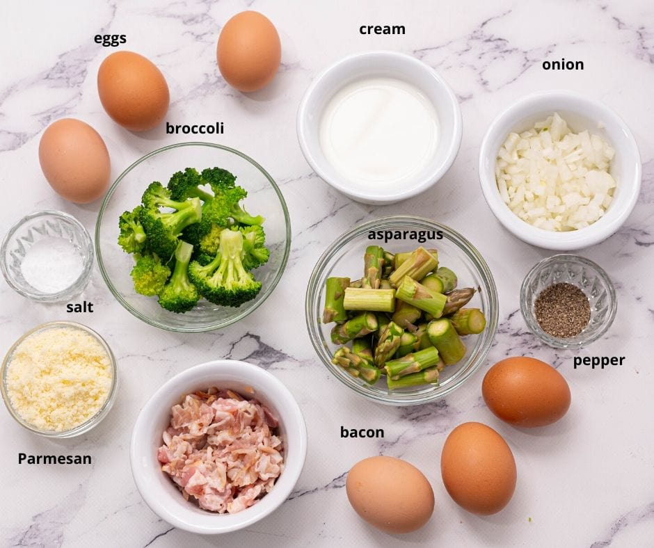 Ingredients for Asparagus Frittata