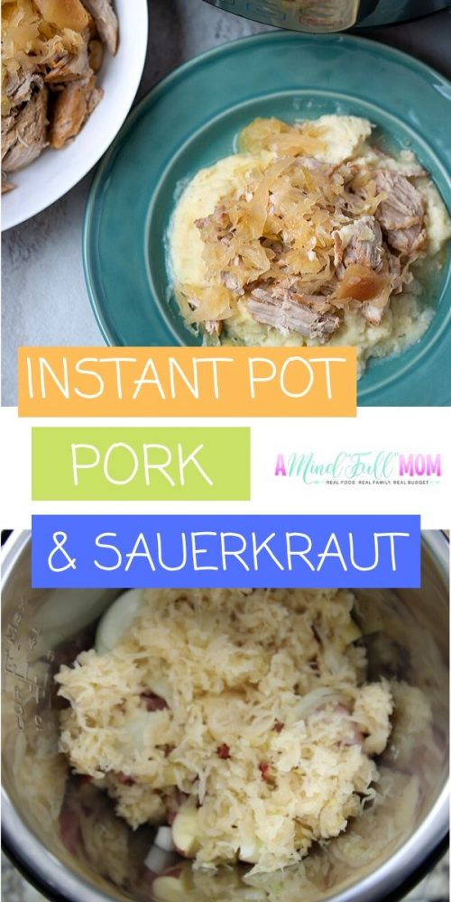 Instant Pot Pork and Sauerkraut is one of the easiest recipes to make! With just a few simple ingredients, this recipe will deliver a pork roast that is cooked to tender perfection in a perfectly balanced sweet and tangy sauerkraut and apple mixture. This Instant Pot Pork Loin recipe is perfect for New Years or for a hearty, comforting family meal.