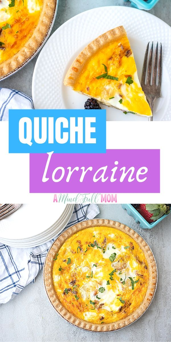 Quiche Lorraine is an easy and elegant recipe perfect for brunch.