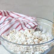 Bowl of Homemade Microwave Popcorn