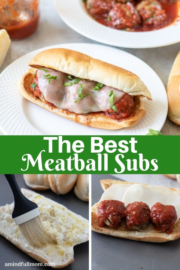 These are the BEST meatball subs! Made with a garlic toasted bun, tender meatballs, homemade tomato sauce and provolone cheese, these meatball sub sandwiches are guaranteedto satisfy.