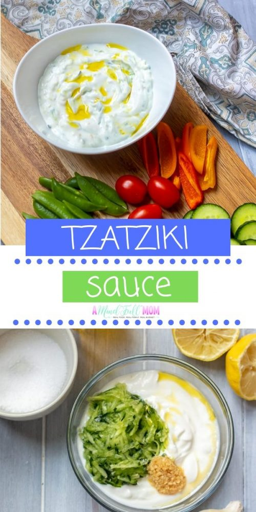 Tzatziki sauce is EASY and versatile! This healthy Greek tzatziki sauce recipe can be prepared in minutes and with minimal ingredients.  It is perfect for a dip for vegetables pita, meats, as an appetizers, and more!