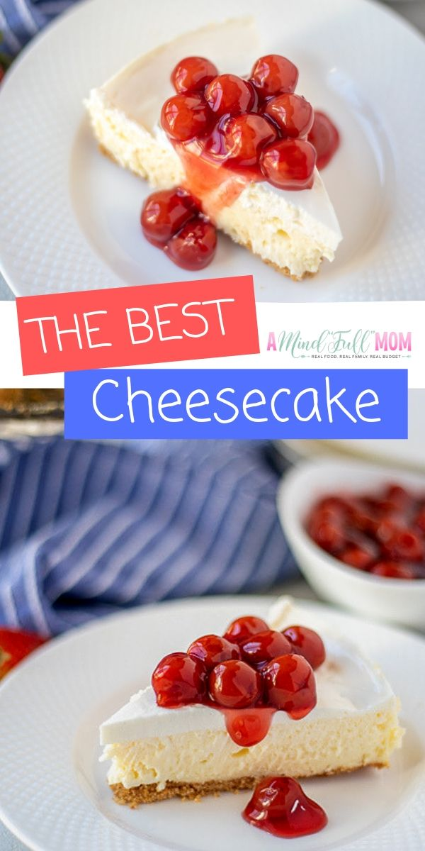 This classic cheesecake with graham cracker crust is light and creamy! This cheesecake recipe produces the ABSOLUTE best cheesecake ever--thanks to a few key secrets.