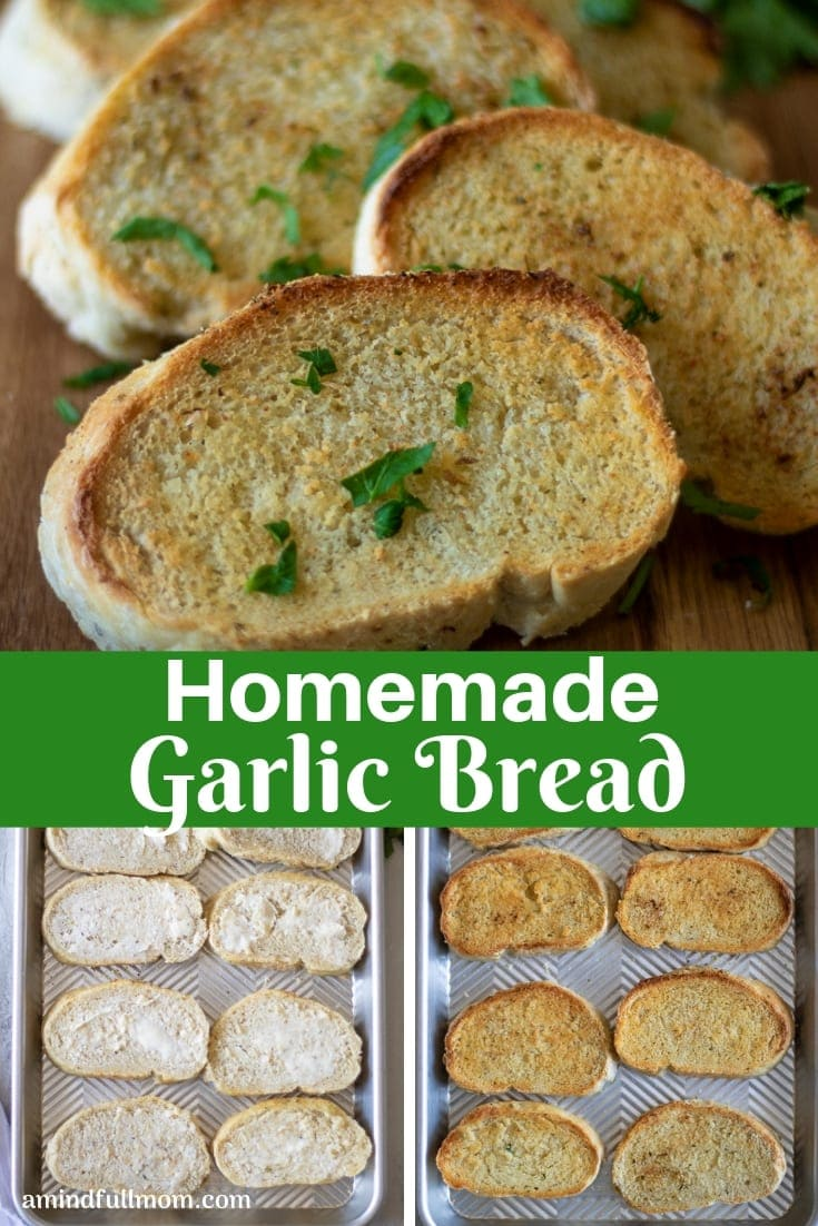 You will never buy Garlic Texas Toast again! Homemade Garlic Toast is easy to make at home with a few ingredients and simple steps. This simple garlic toast recipe is perfect to serve with pastas, soups, or on it's own!