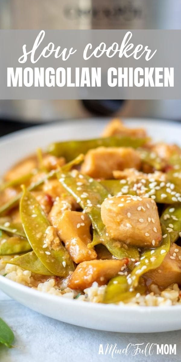 It is so easy to make Mongolian Chicken right in the crock-pot. The sweet and spicy sauce envelopes the chicken with and is absolutely delicious